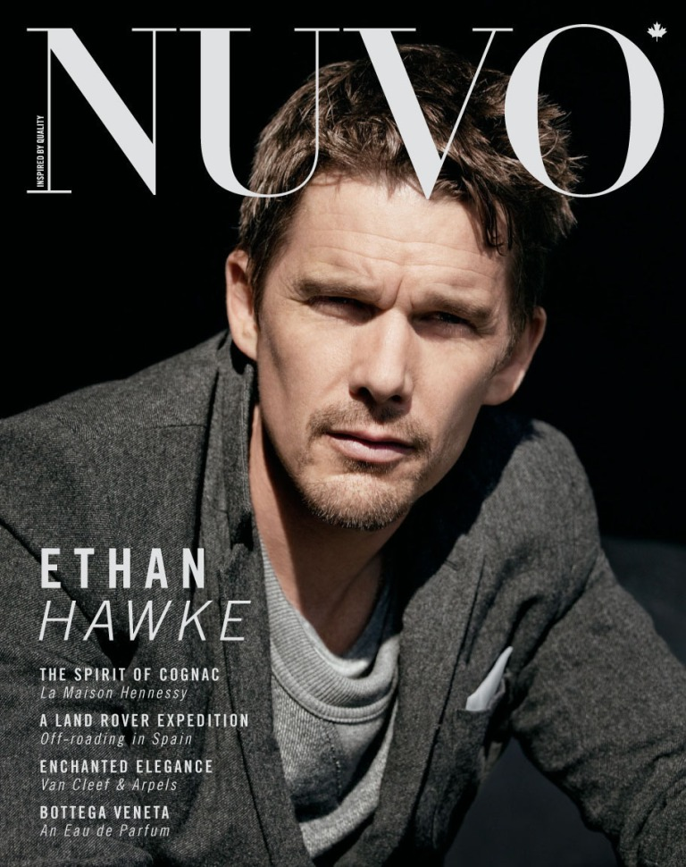 Oscar-nominated actor Ethan Hawke discusses his latest film, The Woman in the Fifth, in the winter 2011 issue of NUVO on newsstands November 14. Hawke was photographed by Brian Bowen Smith in New York and interviewed for NUVO by Joshua David Stein. Visit www.nuvomagazine.com for more photos and article excerpt. (CNW Group/NUVO Magazine Ltd.)